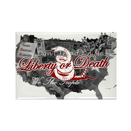 Liberty or Death: Tea Party Rectangle Magnet (100