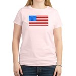 4th of July American Flag Women's Light T-Shirt