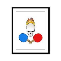 Skull Pong Framed Panel Print