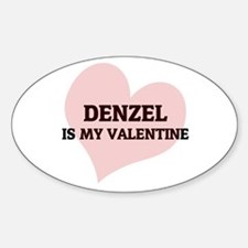 Denzel Is My Valentine Oval Decal