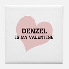 Denzel Is My Valentine Tile Coaster