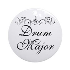 Stylish Drum Major Ornament (Round)