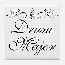 Stylish Drum Major Tile Coaster