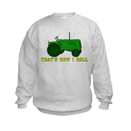 Tractor: That's How I Roll Kids Sweatshirt