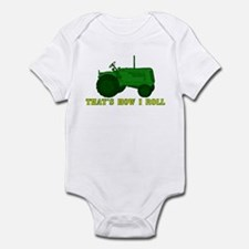 Tractor: That's How I Roll Infant Bodysuit