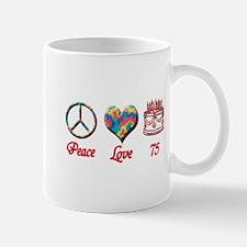 Funny Love peace 75 Mug