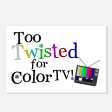 Too Twisted for Color TV Postcards (Package of 8)