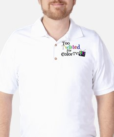 Too Twisted for Color TV Golf Shirt