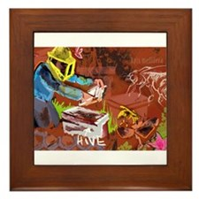 The Beekeper & The Honeybee Framed Tile