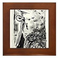 Ancient Honey Hunter Framed Tile