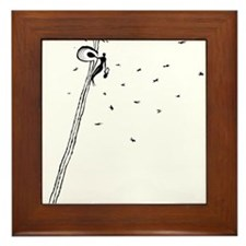 Ancient Honey Gatherer Framed Tile