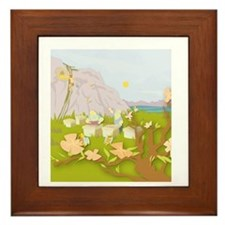 Beekeeping Paradise Framed Tile