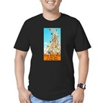 Double Ferris Wheel At The Pi Men's Fitted T-Shirt