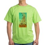Double Ferris Wheel At The Pi Green T-Shirt