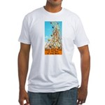 Double Ferris Wheel At The Pi Fitted T-Shirt