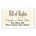 Bill of Rights Sticker (Rectangle 50 pk)
