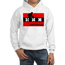 Amsterdam Cycling Male Hoodie