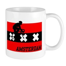 Amsterdam Cycling Male Mug
