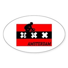 Amsterdam Cycling Male Stickers