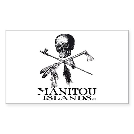 Manitou Islands Sticker (Rectangle)