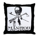Manitou Islands Throw Pillow