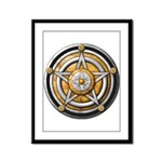 Silver Pentacle w/gold Framed Panel Print