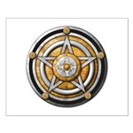 Silver Pentacle w/gold Small Poster