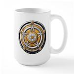 Silver Pentacle w/gold Large Mug