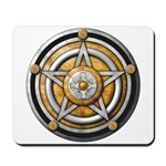 Silver Pentacle w/gold Mousepad