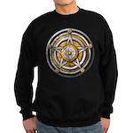 Silver Pentacle w/gold Sweatshirt (dark)