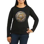 Silver Pentacle w/gold Women's Long Sleeve Dark T-