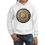 Silver Pentacle w/gold Hooded Sweatshirt