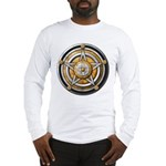 Silver Pentacle w/gold Long Sleeve T-Shirt