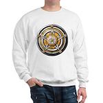 Silver Pentacle w/gold Sweatshirt