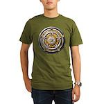 Silver Pentacle w/gold Organic Men's T-Shirt (dark