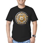 Silver Pentacle w/gold Men's Fitted T-Shirt (dark)