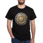 Silver Pentacle w/gold Dark T-Shirt