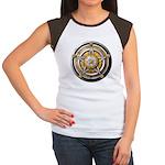 Silver Pentacle w/gold Women's Cap Sleeve T-Shirt