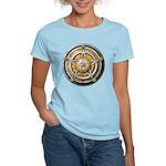 Silver Pentacle w/gold Women's Light T-Shirt