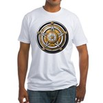 Silver Pentacle w/gold Fitted T-Shirt