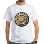 Silver Pentacle w/gold White T-Shirt