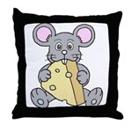 Mouse & Cheese Throw Pillow