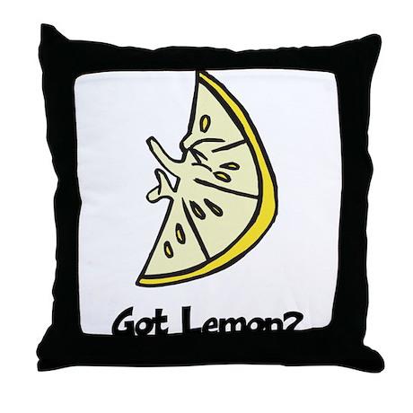 Got Lemon Throw Pillow
