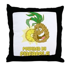 Powered By Pineapple Throw Pillow
