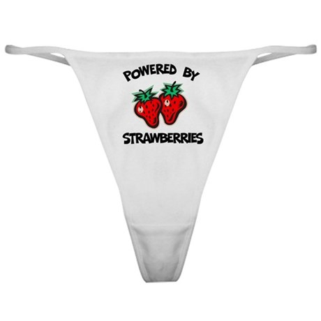 Powered By Strawberries Classic Thong