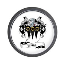 Young Coat of Arms Wall Clock