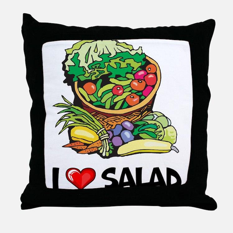 I Love Salad Throw Pillow