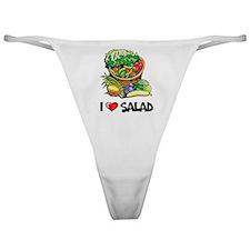 I Love Salad Classic Thong