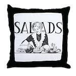 Retro Salad Throw Pillow