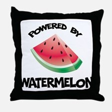 Powered By Watermelon Throw Pillow